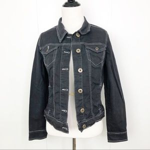 BANDOLINO Jean Jacket Blue Dyed Denim Pockets Sm